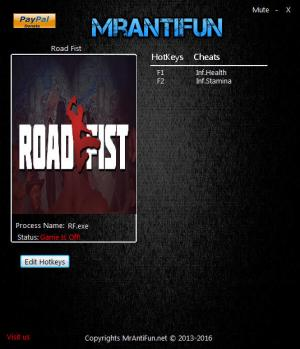 Road Fist Trainer +2 v1.00 {MrAntiFun}