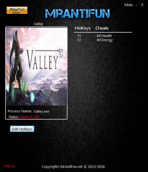 Valley Trainer for PC game version 1.00 64bit
