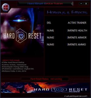 Hard Reset Redux Trainer +3 v1.0 {FutureX}
