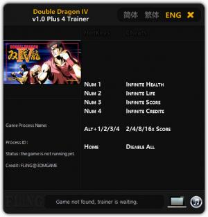 Double Dragon IV Trainer +5 v1.0 {FLiNG}