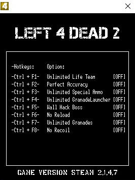 Left 4 Dead 2 Trainer +8 v2 1 4 7 LIRW GHL - download cheats