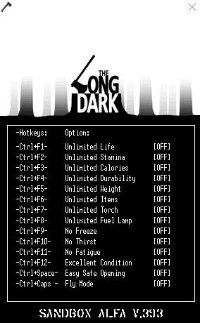 The Long Dark Trainer for PC game version 0.393
