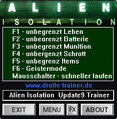 Alien: Isolation Trainer +7 v1.9 {dR.oLLe}