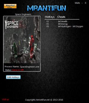Space Engineers Trainer +4 v1.172 64bit {MrAntiFun}