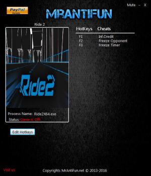 Ride 2 Trainer +3 v1.0.0.1 {MrAntiFun}