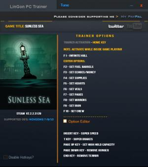 Sunless Sea Trainer +16 v2.2.2.3129 {LinGon}