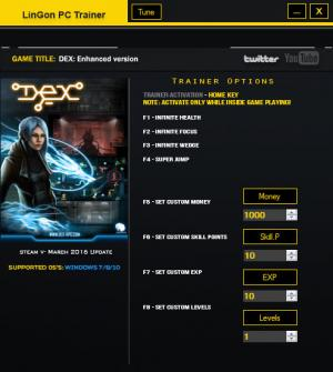 Dex: Enhanced Edition Trainer +8 Update March 2016 {LinGon}