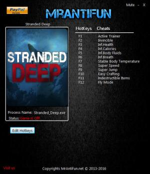 Stranded Deep Trainer for PC game version 0.24 64bit