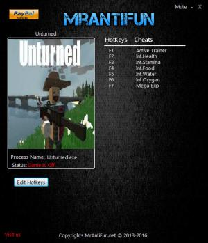 Unturned Trainer +6 v3.17.16.0 {MrAntiFun}