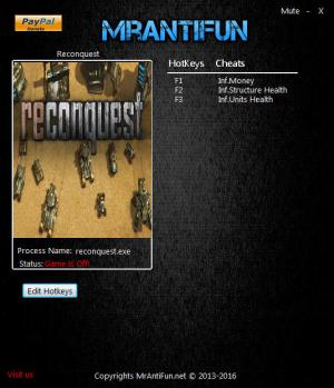 Reconquest Trainer +3 v1.838 {MrAntiFun}