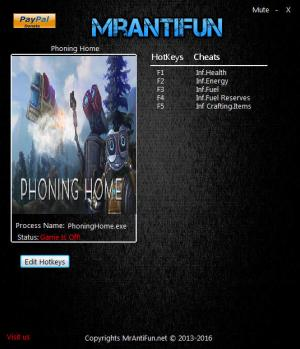 Phoning Home Trainer +5 v02.13.2017 {MrAntiFun}