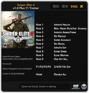 Sniper Elite 4 Trainer +11 v1.0 {FLiNG}