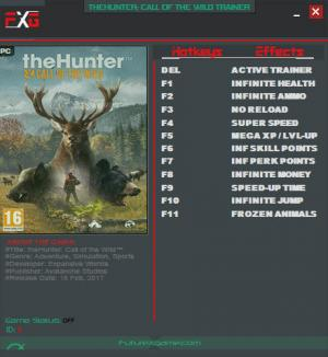 theHunter: Call of the Wild Trainer +11 v1.01 {FutureX}