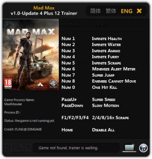 Mad Max Trainer +12 v1.0 Update 4 {FLiNG}