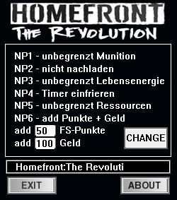 Homefront: The Revolution Trainer +8 v6.03.17 {dR.oLLe}
