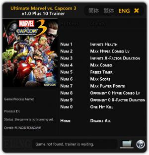 Ultimate Marvel vs. Capcom 3 Trainer +10 v1.0 {FLiNG}