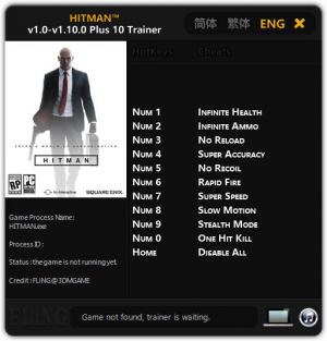 Hitman 2016 Trainer +10 v1.0 - 1.10.0 {FLiNG}