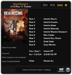 Dead Rising 4 Trainer +11 v1.0 {FLiNG}