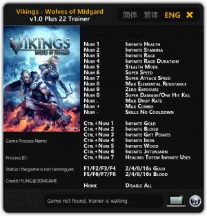 Vikings - Wolves of Midgard Trainer +22 v1.0 {FLiNG}