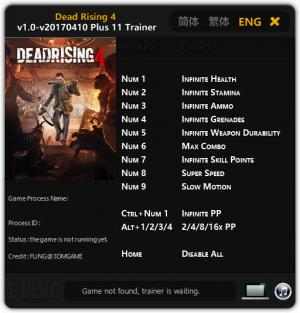 Dead Rising 4 Trainer +11 v1.0 - 2017.04.10 {FLiNG}
