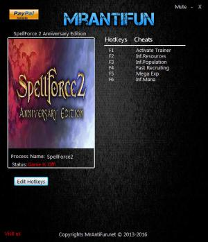 SpellForce 2 - Anniversary Edition Trainer +5 v2.01 {MrAntiFun}