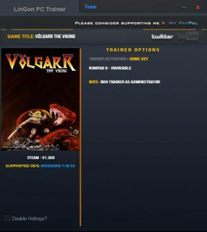 Volgarr the Viking Trainer for PC game version 1.36d