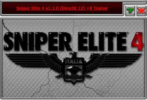 Sniper Elite 4 Trainer for PC game version 1.3.0