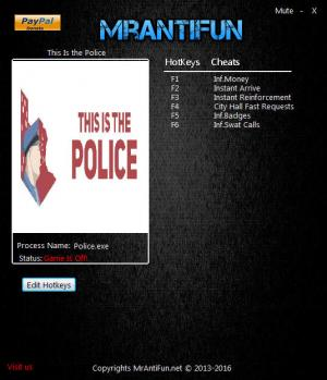 This Is the Police Trainer +6 v1.1.3.0 {MrAntiFun}