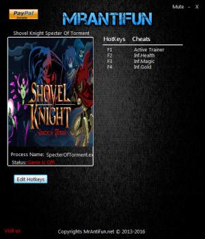 Shovel Knight: Specter of Torment Trainer +3 v04.12.2017 {MrAntiFun}