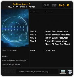 Endless Space 2 Trainer +4 v1.0 - 1.0.1 {FLiNG}