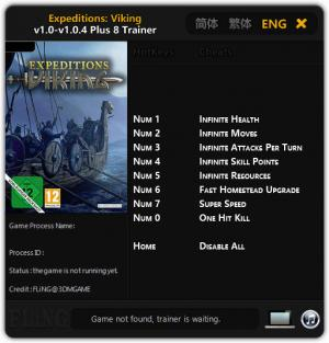 Expeditions: Viking Trainer for PC game version 1.0 - v1.0.4