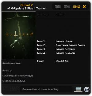 Outlast 2 Trainer +4 v1.0  - Update 2 {FLiNG}