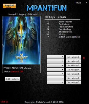 StarCraft 2: Legacy of the Void Trainer +6 v3.14.0.53644 64Bit {MrAntiFun}