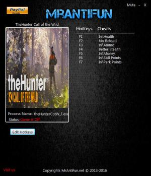 theHunter: Call of the Wild Trainer +7 v1.63 {MrAntiFun}