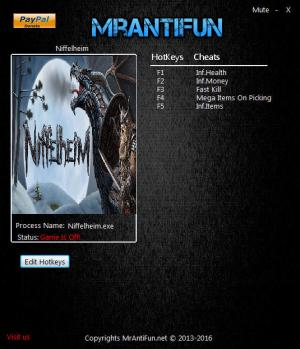 Niffelheim Trainer for PC game version 0.9.014