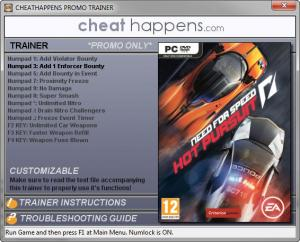 Need for Speed: Hot Pursuit Mega Trainer +12 Patch 06.14.2017 (Cheat Happens)