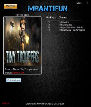 Tiny Troopers Trainer for PC game version 09.26.2016