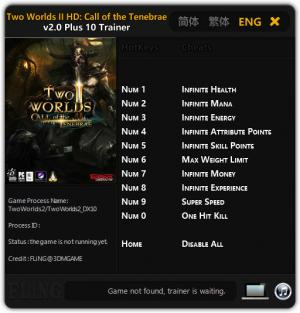 Two Worlds 2 Trainer +10 v2.0 {FLiNG}