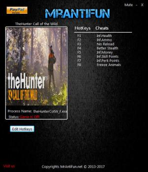 theHunter: Call of the Wild Trainer +8 v1.8 {MrAntiFun}