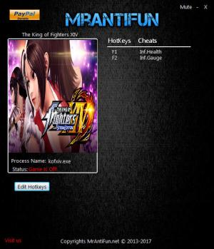 The King of Fighters 14 Trainer for PC game version 1.00