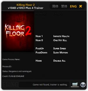 Killing Floor 2 Trainer +4 v1048 - 1053 {FLiNG}