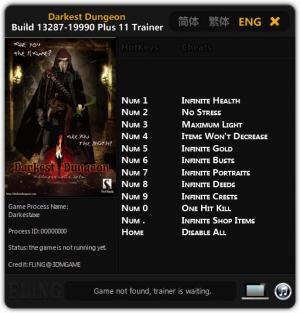 Darkest Dungeon Trainer +11 Build 13287 - 19990 {FLiNG}