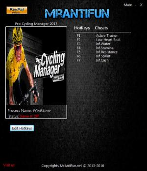 Pro Cycling Manager 2017 Trainer +6 v1.0.2.3 {MrAntiFun}