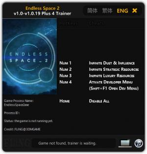Endless Space 2 Trainer +4 v1.0 - 1.0.19 {FLiNG}