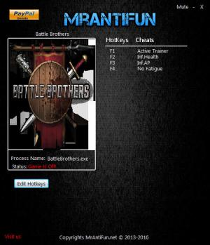 Battle Brothers Trainer +3 v1.0.0.1 {MrAntiFun}