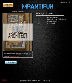 Prison Architect Trainer +4 v12a Jun 20 {MrAntiFun}
