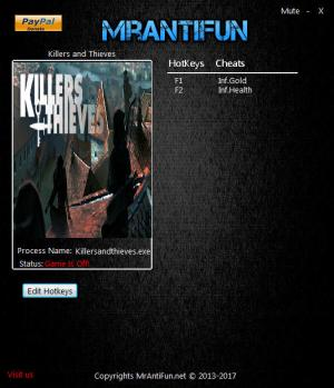 Killers and Thieves Trainer for PC game version 06.28.201