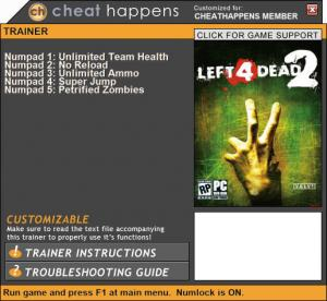 Left 4 Dead 2 Trainer +5 Patch 06.30.2017 (Cheat Happens)