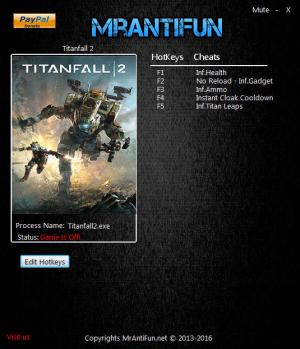 Titanfall 2 Trainer for PC game version 2.0.6.1