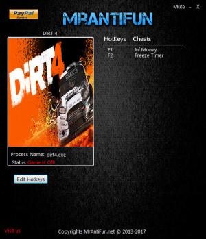DiRT 4 Trainer +2 v07.11.2017 {MrAntiFun}